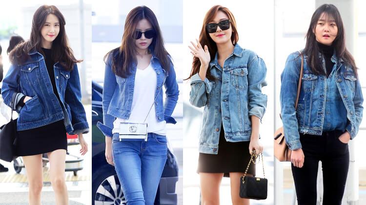 韓国秋ファッションデニムジャケット