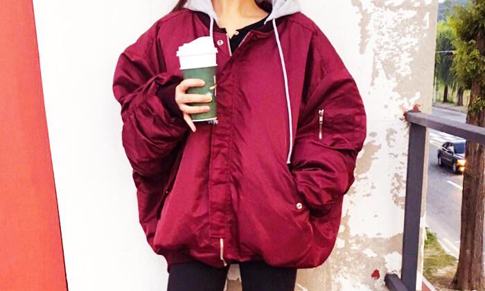 韓国秋ファッションブルゾン