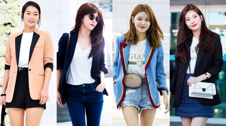 韓国秋ファッションテーラードジャケット