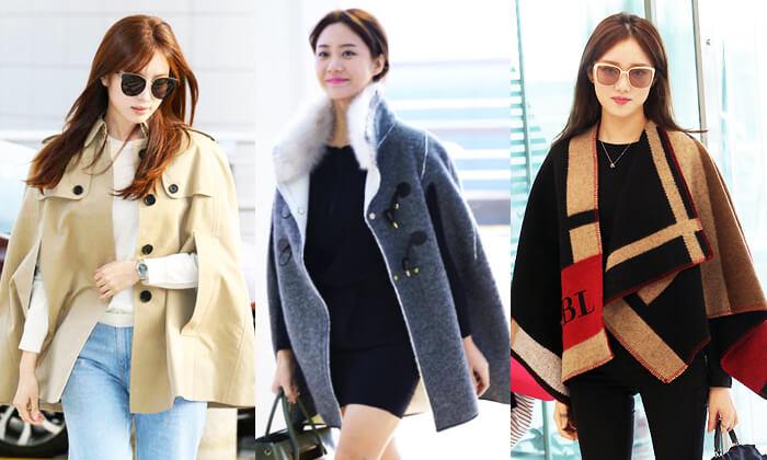 韓国秋ファッションケープジャケット