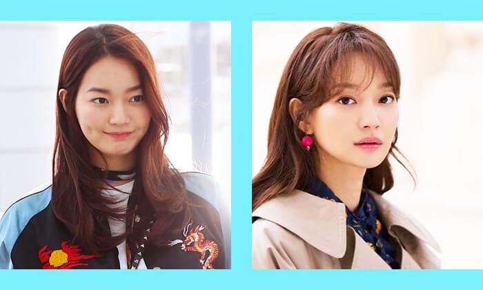 韓国スターシンミナ前髪ヘアスタイル